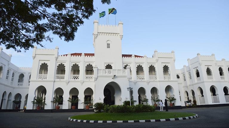Presidentpalatset i Dar es-Salaam.