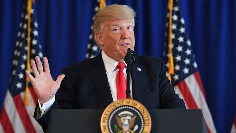 Donald Trump fördömde våldet.