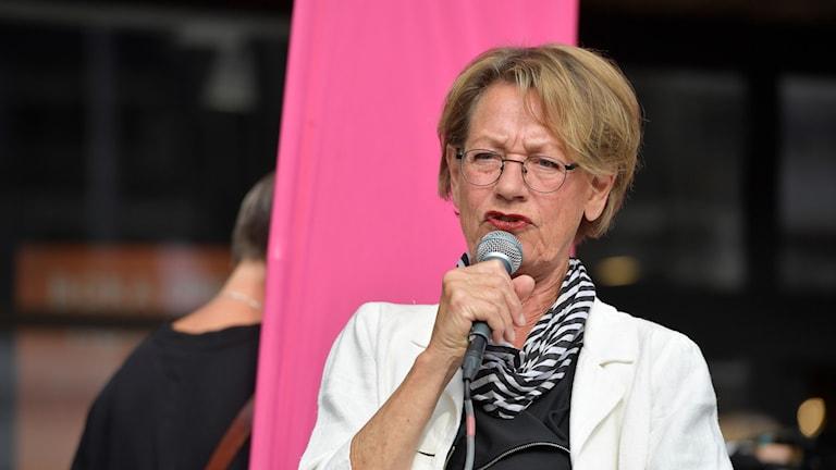 FI:s partiledare Gudrun Schyman