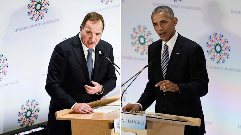 Stefan Löfven och Barack Obama.