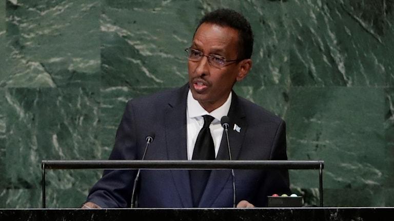 Somalias utrikesminister Ahmed Isse Awad.