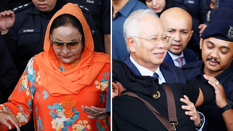 Najib Razak och Rosmah Mansor.