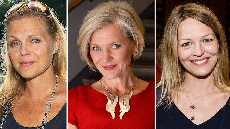 Miah Persson, Erika Sunnegårdh och Elin Rombo.