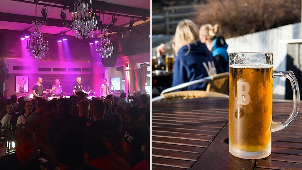 Marmeladorkestern på Afterski och öl i solen på Åre torg.