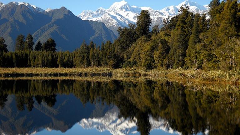 Nya Zeeland sydön.