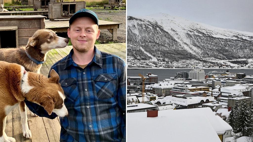 Bild på Torkil Hansen och på Tromsö.