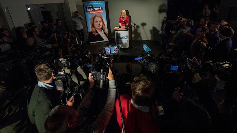 Den liberala kandidaten Zuzana Čaputová vann första omgången i det slovakiska presidentvalet med stor marginal.