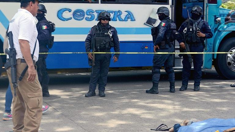 En man blev skjuten i Acapulco i juni 2018. Foto: Francisco Roles/TT.