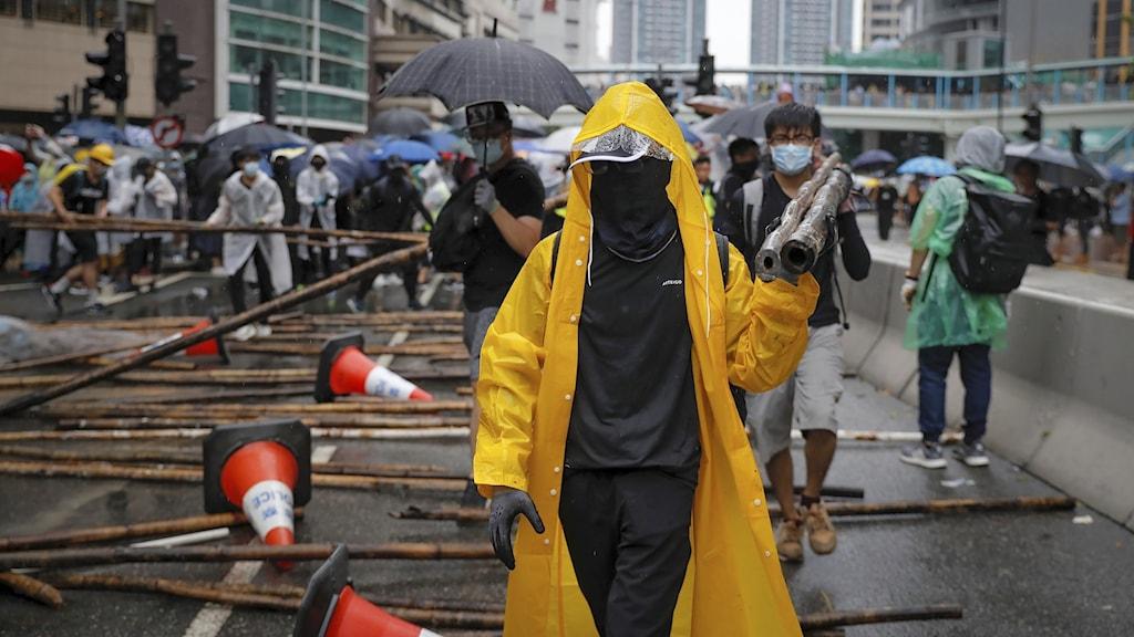 Demonstranter i Hongkong. Foto: Kin Cheung/AP/TT.
