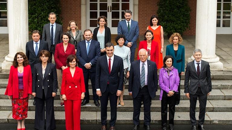 Spaniens regering Pedro Sanchez
