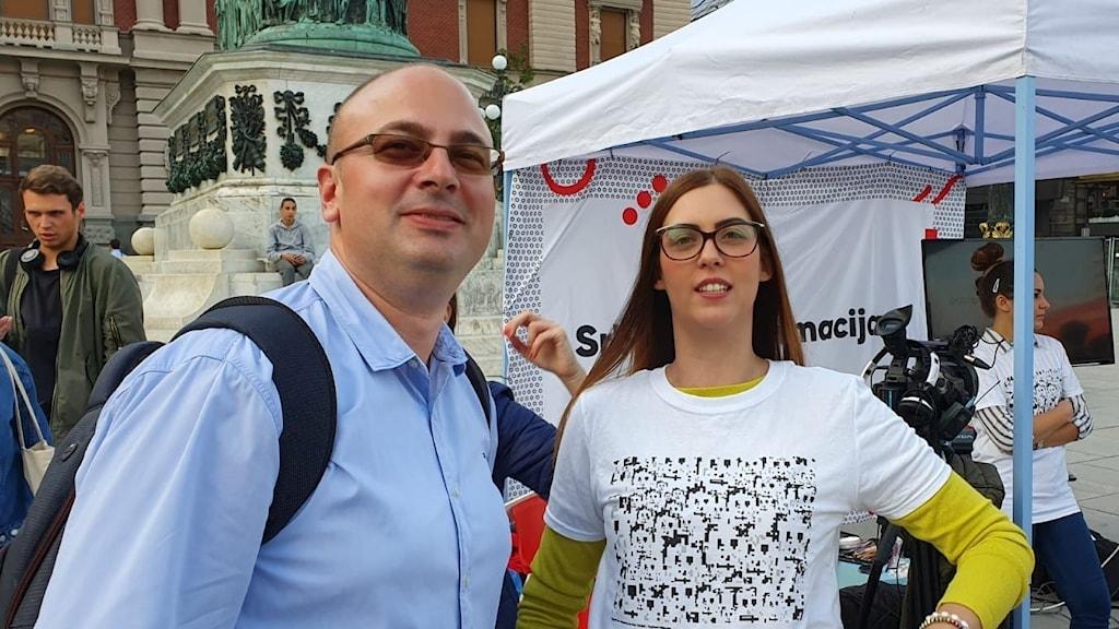 Pavle Dimitrijevic på Crta försöker informera allmänheten om de planerna på omfattande övervakning i Belgrad