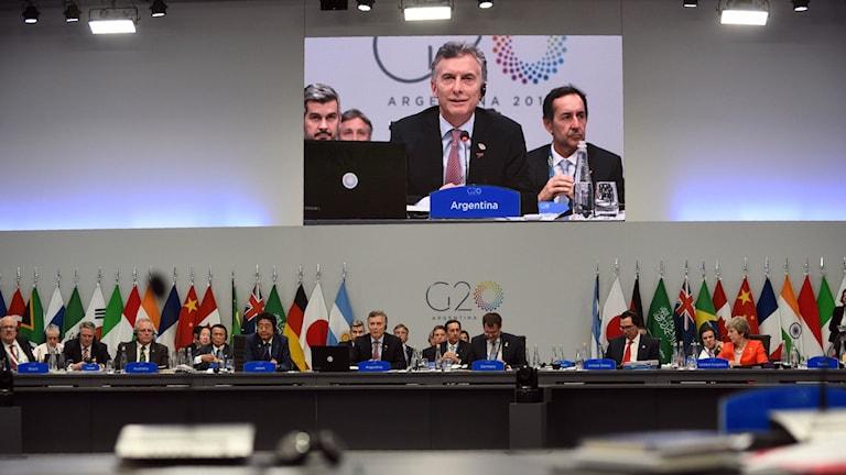 Bild från G20-mötet i Argentinas andra dag.
