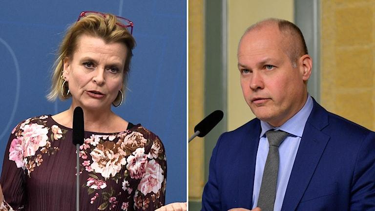 Åsa Regnér (S) och Morgan Johansson (S).