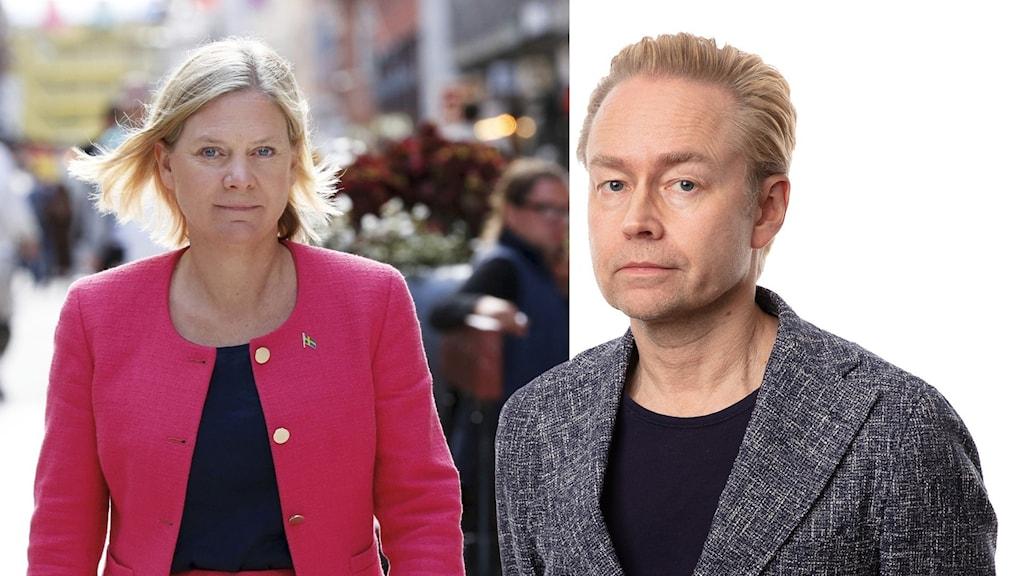 Magdalena Andersson (S) och Fredrik Furtenbach.