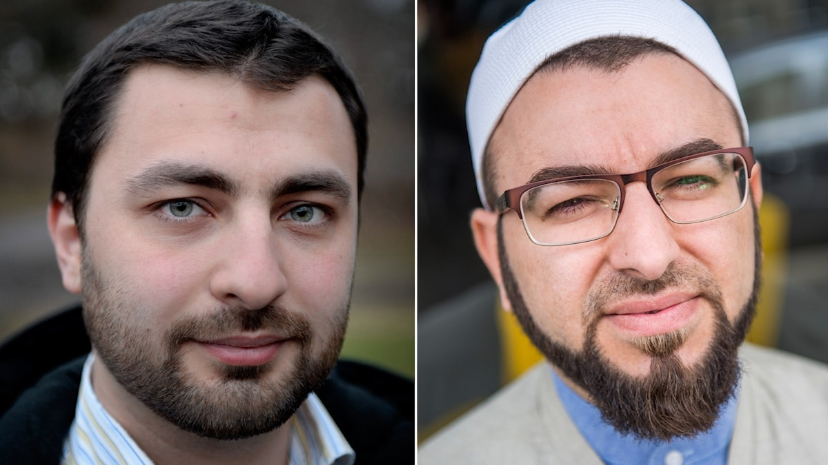 Ansiktsbilder av Omar Mustafa, förbundsrektor vid studieförbundet Ibn Rushd i Stockholm och Salahuddin Barakat, ordförande i malmöbaserade islamakademin och