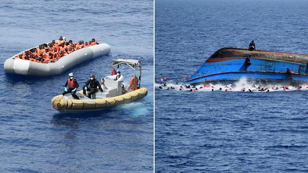 Nya dödsoffer på Medelhavet -- migranter räddades utanför Kreta.