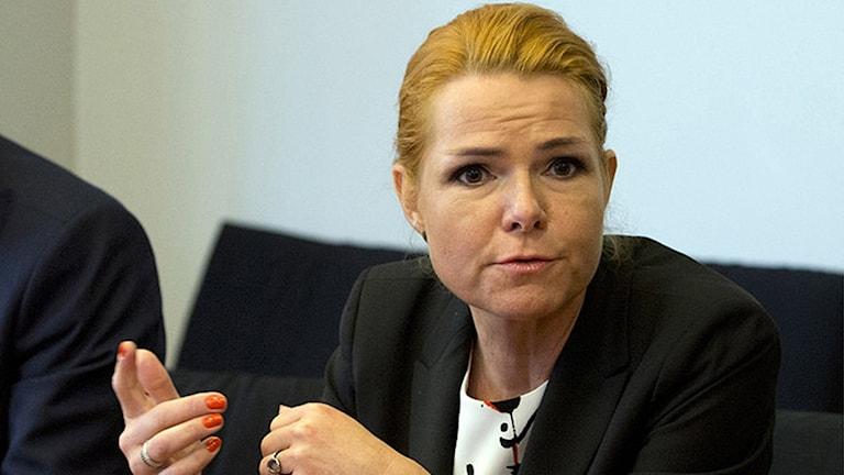 Danmarks migrationsminister Inger Støjberg. Foto: Virginia Mayo/TT.