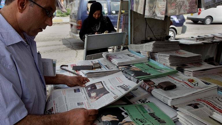 Tidningar i Irak.