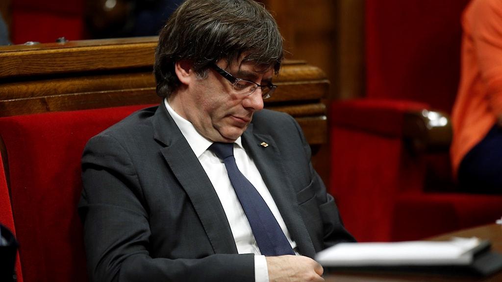 Den katalanske presidenten i parlamentet i Barcelona.
