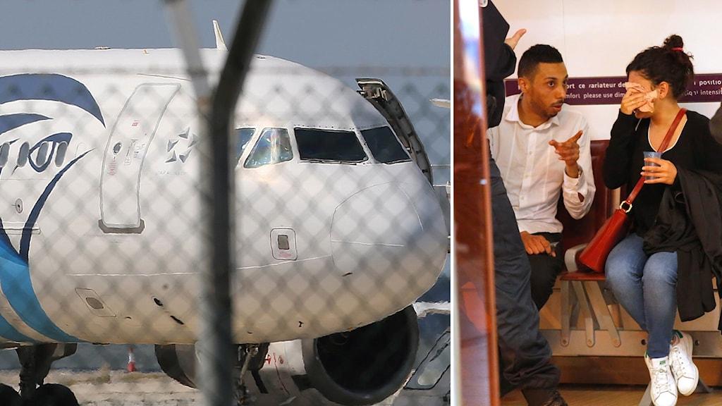 Ett passagerarplan från Egypt air har försvunnit.