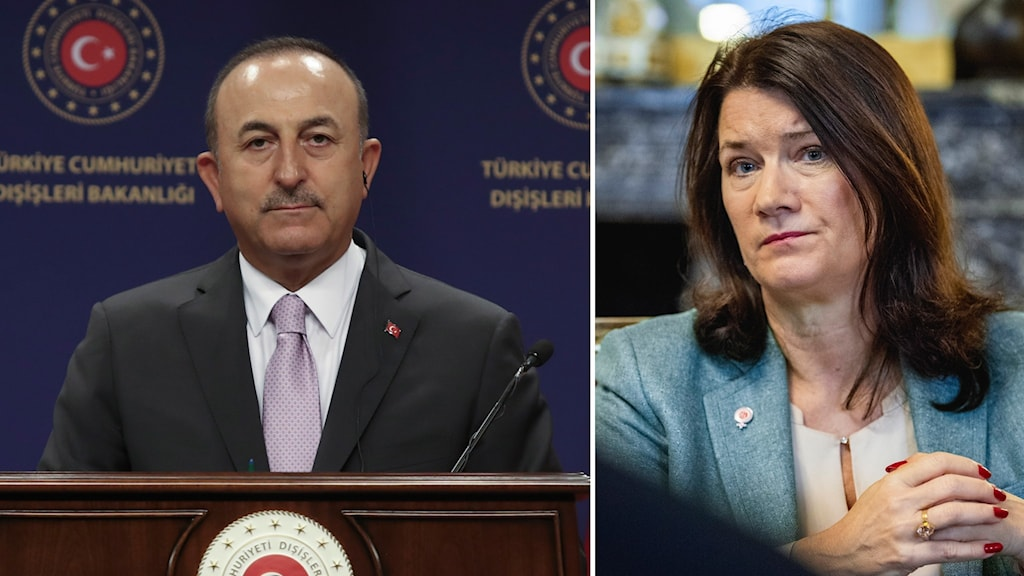 Turkiets utrikesminister Mevlüt Çavuşoğlu och Ann Linde (S).