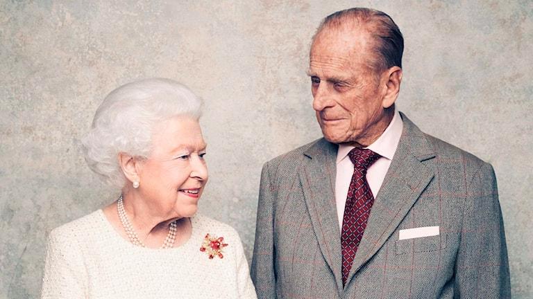 Drottning Elizabeth och hennes make prins Philip