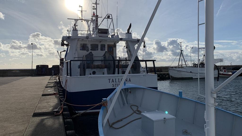 En trålare som ägs av fiskaren Bengt Fredriksson, fiskare på Sturkö utanför Karlskrona.