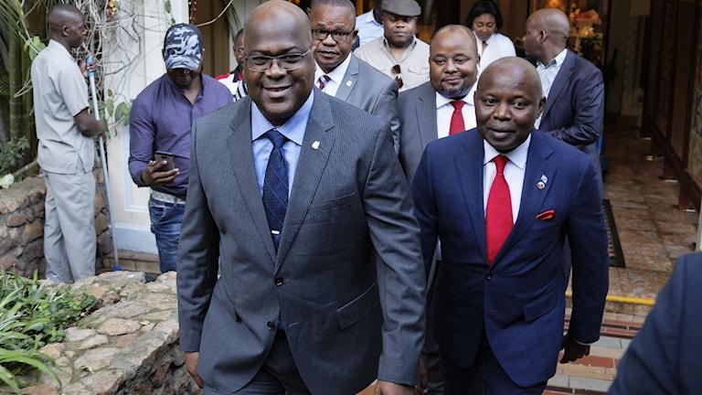 Vital Kamerhe till höger om Felix Tshisekedi.