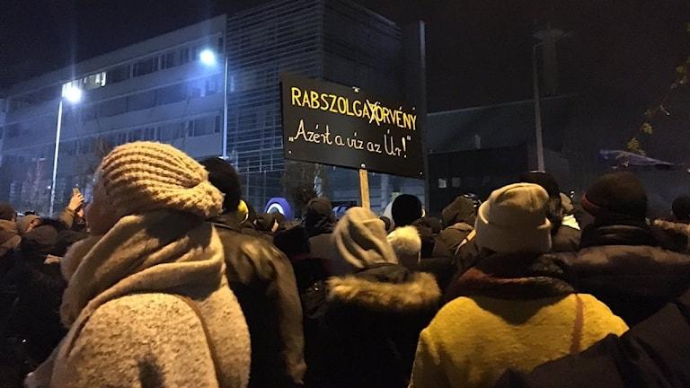Demonstrationerna i Ungerns huvudstad Budapest.