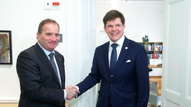 Stefan Löfven hos talmannen Anders Norlén
