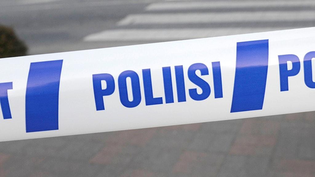 Polisavspärrning, Finland.