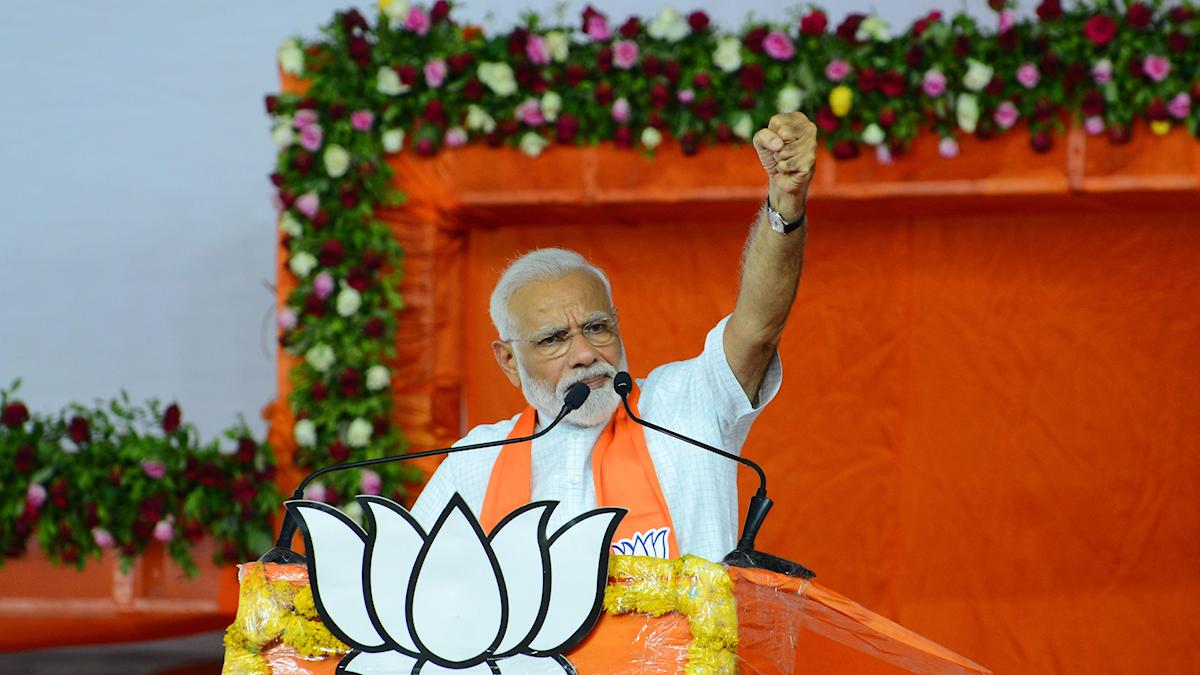 Indiens nyvalde premiärminister Narendra Modi.
