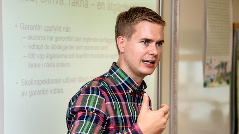 Gustav Fridolin. Foto: Anders Wiklund/TT
