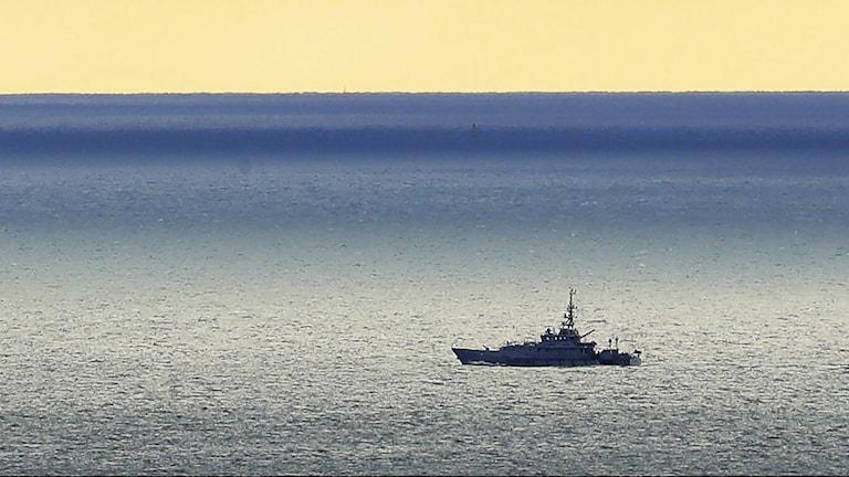 Ett fartyg från den brittiska kustbevakningen vid Dover.