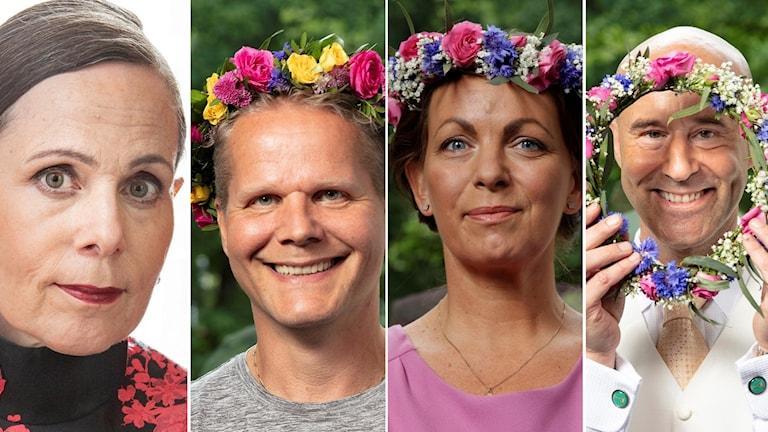 Sara Danius, Kaj Linna, katarina Wennstam och Mark Levengood.
