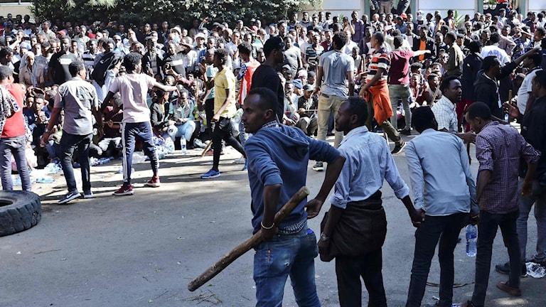 Etiopien protester