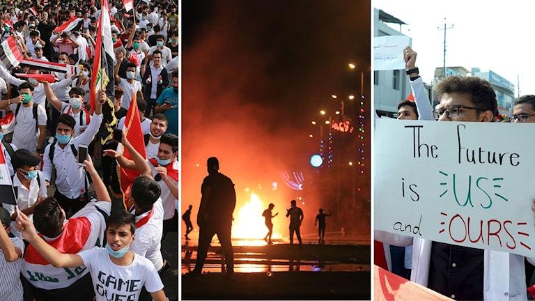 Fortsatta protester i Irak