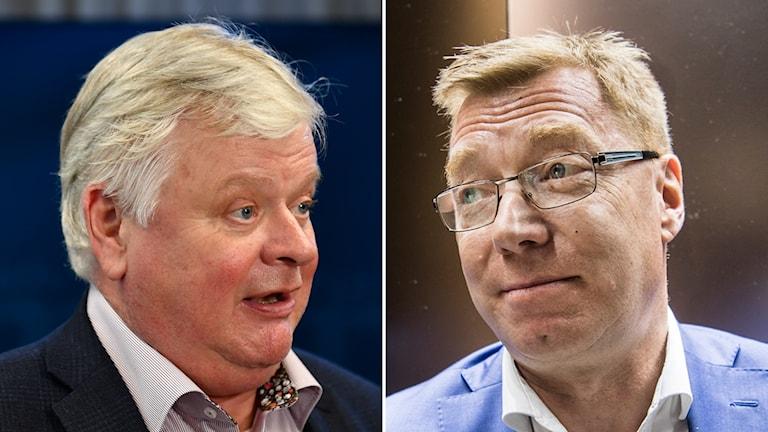 Lars-Ingvar Ljungman (M), ordförande för länsförbundet i Skåne och Leif Gripestam (M), avgående ordförande i Täby i Stockholms län.