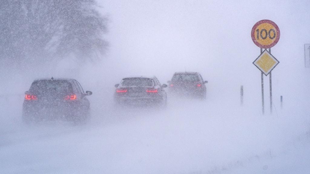 Arkivbild – snöoväder i Skåne i februari.