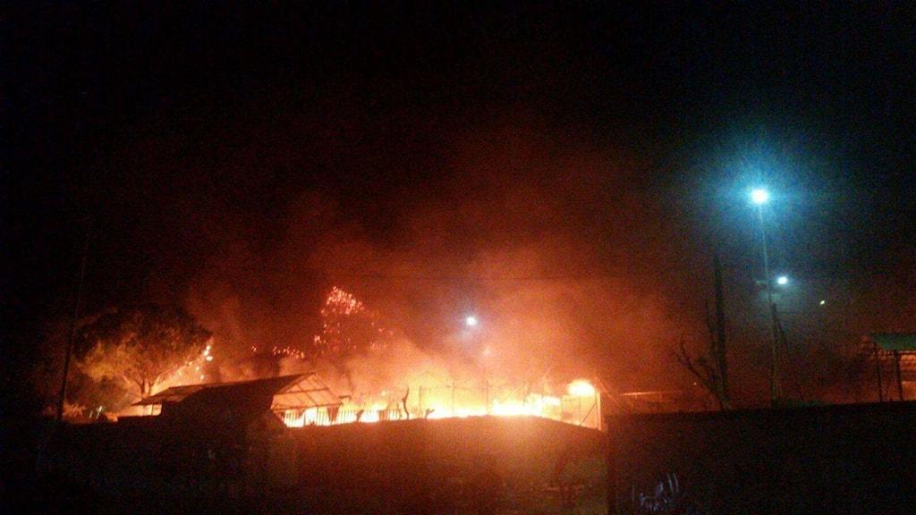 Branden i flyktinglägret Moria i Grekland