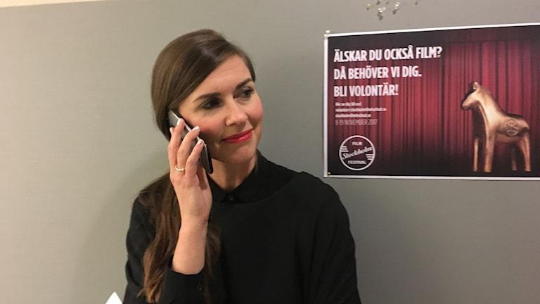 Christina Bjerkander, PR-chef på Dramaten.