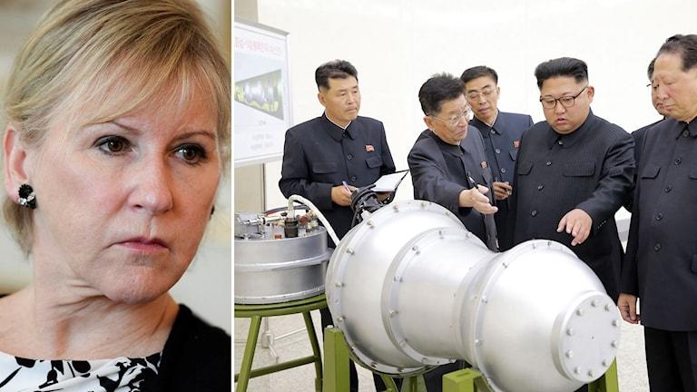 Utrikesminister Margot Wallström fördömer Nordkoreas kärnvapenprov.