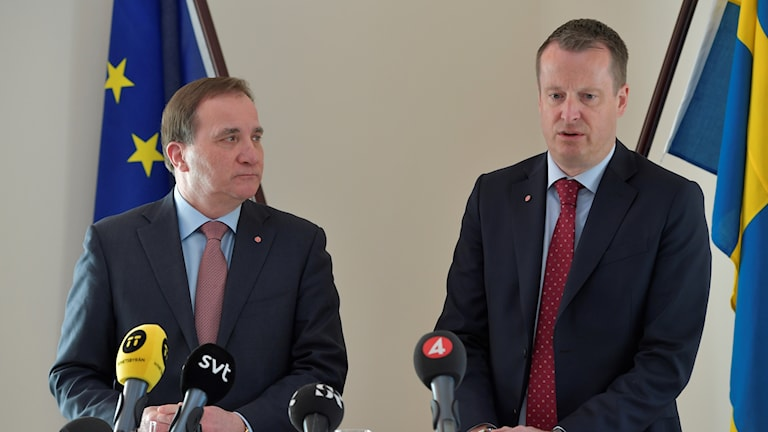 Statsminister Stefan Löfven och inrikesminister Anders Ygeman.