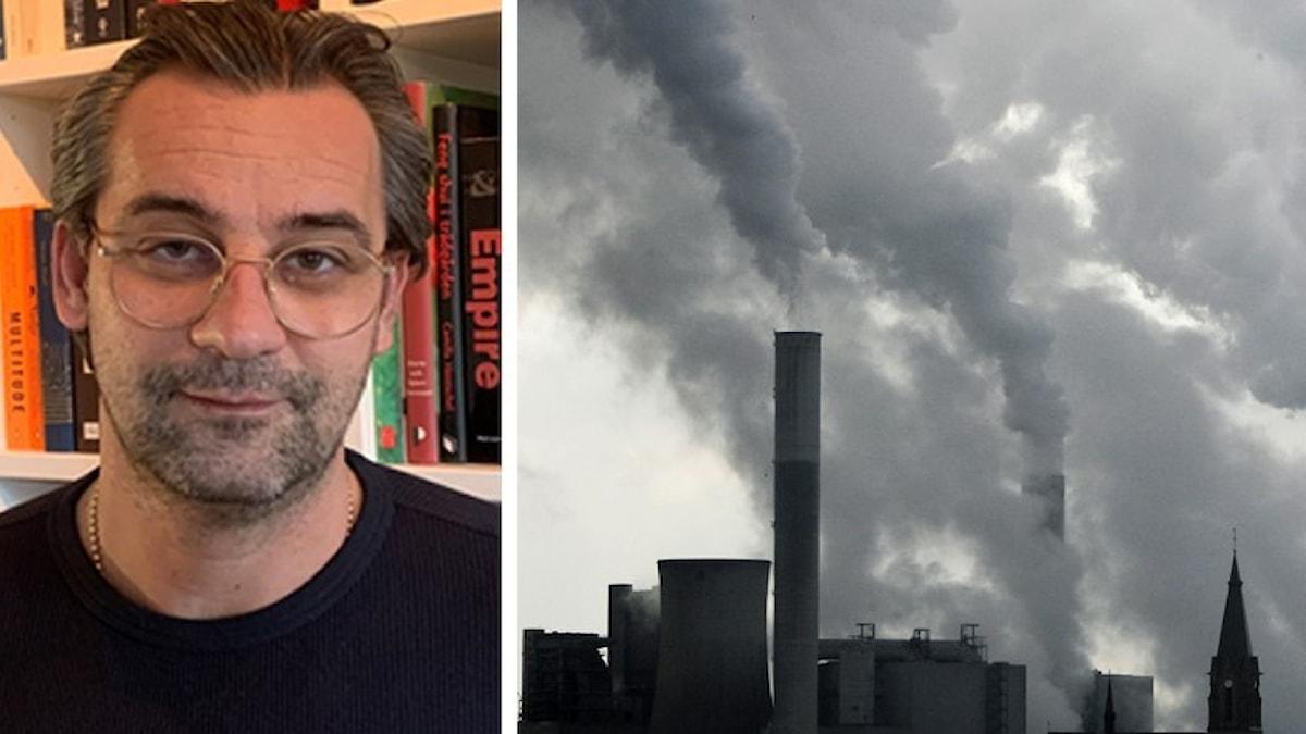 Bild på Sasja Beslik och kolkraftverk.
