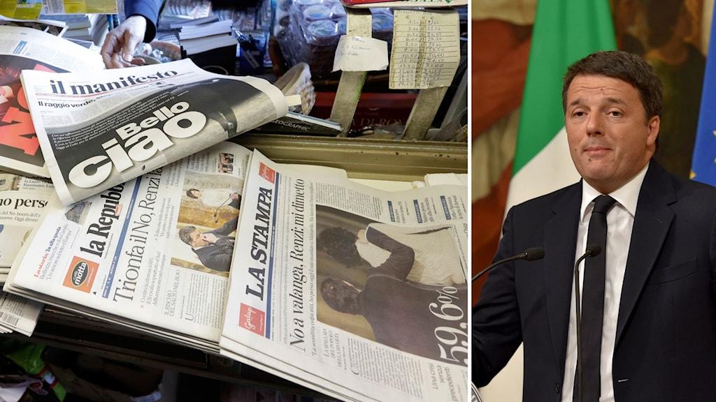 I dagstidningen La Republica analyseras Matteo Renzis misslyckande.