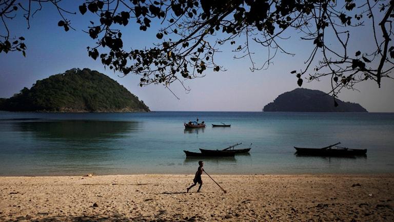 En strand i Myanmar.