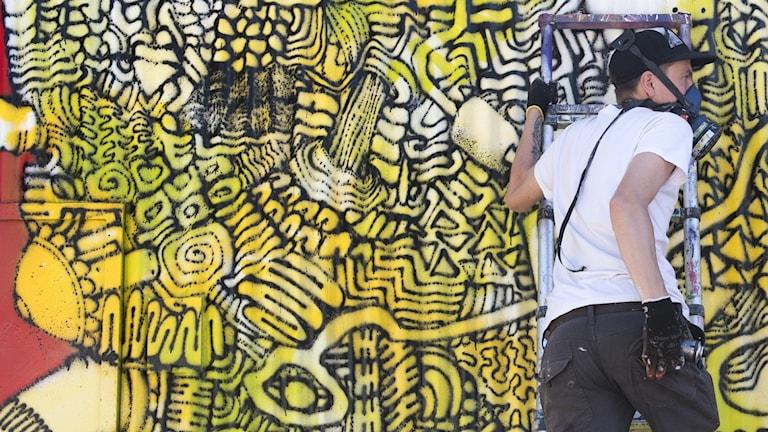 Graffiti i Snösätra, söder om Stockholm