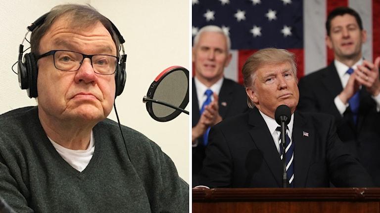 Dag Blanck, professor i nordamerikastudier, och Donald Trump