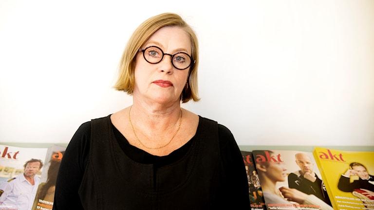 Anna Carlson, Teaterförbundets ordförande. Foto: Malin Hoelstad / TT