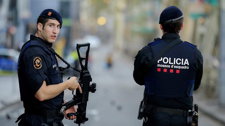 Spanien, Barcelona efter terrorattacken. Manu Fernandez/TT.